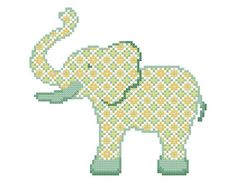 Baby Elephant – A set of three Cross Stitch Patterns in PDF