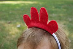 Wool Felt Chicken Headband by TheThreadHouse on Etsy, $8.00