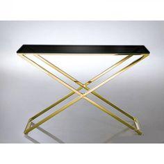 GG-1006 A Georgia fekete konzolasztala pompás szépségével garantáltan beragyogja előszobádat. Robusztus, erős lábai rozsdamentes acélból készültek, így biztosítják az asztal kiváló tartását. Átlátszó, edzett üveg asztallapja görög stílusú mintáival még egyedibbé varázsolja a rendkívül jó minőségű alapanyagokból készült bútort. Georgia, Desi, Table, Furniture, Home Decor, Decoration Home, Room Decor, Tables, Home Furnishings