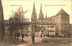Regensburg Roemerturm Herzogsburg Kat. Regensburg