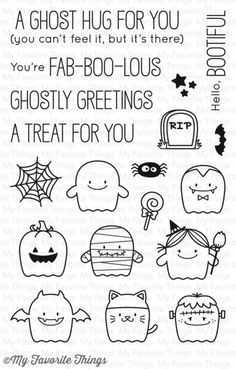 Welcome to Day 4 of the MFT August Release Countdown! Today I'm introducing my new stamp set & Die-namics, Fab-BOO-lous Friends ! Fab-B. Halloween Rocks, Theme Halloween, Halloween Cards, Doodle Drawings, Doodle Art, Cute Drawings, Graphic 45, Simple Stories, Hero Arts
