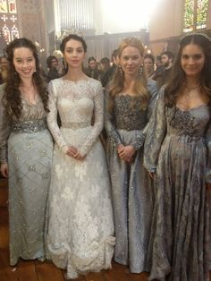 Cast of Reign, Wedding Dress and Bridal Clothes