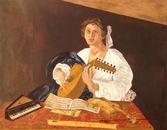 My master study of Caravaggio's Lute Player.