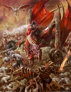 Abhorrant Ghoul King on Terrorgheist Here's a illustration I did for Age of Sigmar – Death Battletome Flesh-Eater Courts. Antonio J. Warhammer Fantasy, Warhammer 40k Art, Fantasy Battle, Dark Fantasy Art, Dark Art, Fantasy Paintings, Fantasy Artwork, Watercolor Paintings, Vampires