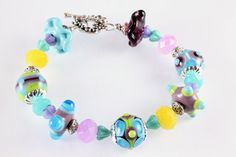 Summer Lampwork Bracelet Pastels Get Your by NancysCrystalFantasi, $51.00