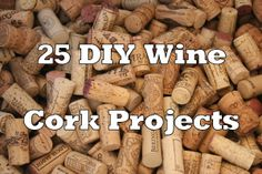 I love doing wine cork projects! Wine corks are great for refurbishing anything, and they great little touches around the house! Trying making one of these 25 diy wine cork projects for yourself! Wine Craft, Wine Cork Crafts, Wine Bottle Crafts, Diy Projects To Try, Crafts To Do, Craft Projects, Diy Crafts, Project Ideas, Craft Ideas