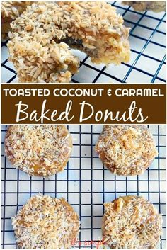 ONLY carbs! Homemade caramel in 30 seconds and toasted coconut take these over the top. Keto Donuts, Keto Cookies, Yummy Cookies, Doughnuts, Wheat Free Recipes, Low Carb Recipes, Cooking Recipes, Paleo Recipes, Keto Diet Breakfast