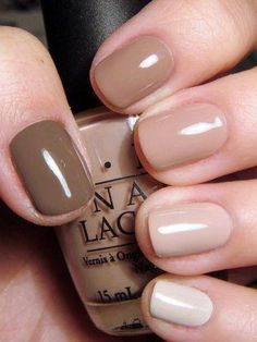 This ombre brings a professional look into the nail business. If the neutrals aren't your thing, this would also work with any other color.