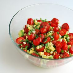 Tomato, Corn and Avocado Salad