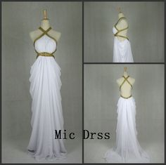 I have always been fascinated with this style :) High Quality Cross Backless Floorlength Chiffon by MicDress, $109.00