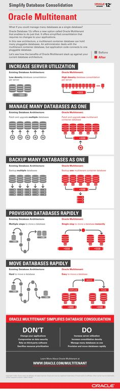 Simplify Database Consolidation. Oracle Database 12c offers a new option called Oracle Multienant, that enables you to manage many databases as one database.