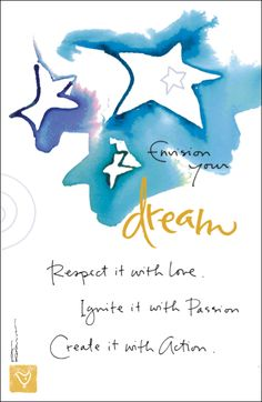 Ignite your dreams with passion! Beautiful card and quote from Kathy Davis!