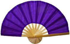 Purple Bamboo Hand Fan :: Stunning and regal, this incredible purple hand fan comes to you straight from the Orient. The color purple is a significant component in the practice of feng shui. This color represents Yin and is a calming, healing and restorative hue.