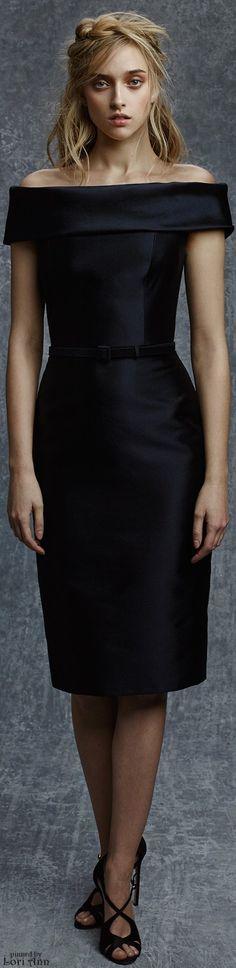 Look its my political funeral dress.   Reem Acra Pre-Fall 2015