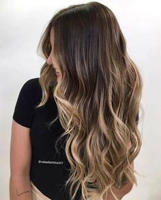 Brown To Blonde Balayage Discover 50 HOTTEST Balayage Hair Ideas to Try in 2020 - Hair Adviser Balayage hair will refresh your look and fix some flaws in the appearance. Find out what balayage highlights will suit your hair length type and texture. Hair Color For Women, Hair Color For Black Hair, Ombre Hair Color, Hair Color Balayage, Balayage Hairstyle, Long Hair Colors, Blonde Balayage Long Hair, Fringe Hairstyle, Easy Hairstyle