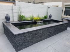 Fish Ponds Backyard, Koi Fish Pond, Backyard Water Feature, Small Water Features, Water Features In The Garden, Piscina Spa, Small Above Ground Pool, Raised Pond, Indoor Pond