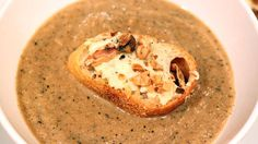 Caramelized Cauliflower and Onion Soup  For a healthy version of this dish, just leave off the bread!    by Rachael Ray