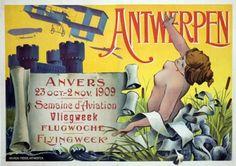 Aviation Week poster - Antwerp 1909