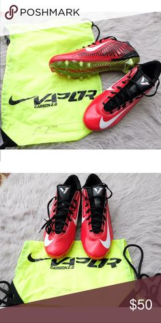 937d542a0 Nike VAPOR CARBON ELITE TD Football Cleats FALCONS Brand New Nike VAPOR  CARBON ELITE TD Football