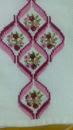 Discover thousands of images about bargello ribbons Cross Stitch Borders, Cross Stitch Flowers, Cross Stitch Designs, Cross Stitching, Cross Stitch Patterns, Broderie Bargello, Bargello Needlepoint, Hand Embroidery Stitches, Cross Stitch Embroidery