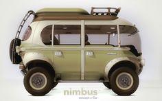 Nimbus e-Car, concept hybrid bus, automobile design, Eduardo Galvani, electrical engine, lithium-ion battery powered car, car design, hybrid...