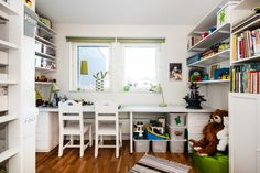 organized kids room..