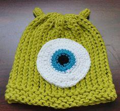 Monsters Inc loom knit hat pattern