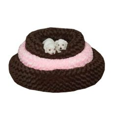 Slumber Pet Polyester Swirl Plush Donut Dog Bed, Small, 18-Inch, Chocolate - http://www.thepuppy.org/slumber-pet-polyester-swirl-plush-donut-dog-bed-small-18-inch-chocolate/