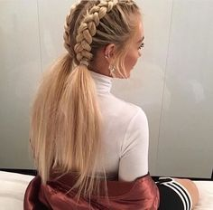 This schoolgirl favorite is all grown up. See the 12 new braided hairstyles we c… This schoolgirl favorite is all grown up. See the 12 new braided hairstyles we c…, This schoolgirl favorite is all grown up. See the 12 new braided hairstyles we c. New Braided Hairstyles, Pretty Hairstyles, Girl Hairstyles, Trending Hairstyles, Stylish Hairstyles, Hairstyle Ideas, Teenage Hairstyles, Office Hairstyles, Anime Hairstyles