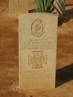 GW Gunn VC headstone