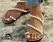 "Bridal sandals ""Evelyn"" (handmade to order)"