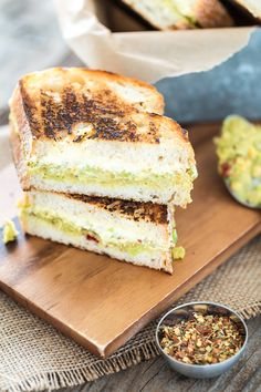 Harissa-Spiced Chickpea Avocado Salad Grilled Cheese Sandwiches