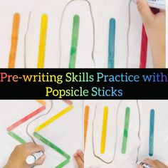 Popsicle Sticks Pre-Writing Practice Sheets💕