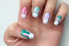 Mesmerizing Easter Nail Designs You Need to C. - - Mesmerizing Easter Nail Designs You Need to Check Nail Art Designs, Easter Nail Designs, Easter Nail Art, Nail Polish Designs, Diy Nail Polish, White Nail Polish, Christmas Nail Art, Holiday Nails, Nailart
