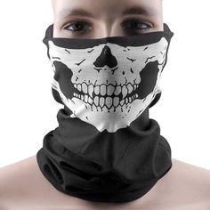 Hitaocity Motorcycle Skull Mask / Wear Headgear Neck Warmer Cycling Goggles Bandana Balaclava Half Ski Skiing Winter Store Shop Item Stuff Protective Hannibal Cheap Skeleton Scary Funny Unique Mouth Full Motorbike Vespa Scooter Riding Biker Rider Fahsionable Fashion Facial Anti Dust Wind Head Wear Hat Scarf Face Cap Cover Cool Helmet Clothing Apparel Clothes Face Black Accessories Gear Part Tool Stuff Supplies Gadgets Men Women Kid Children Bike Decor  AwesomeFishingClothing.com