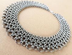 Chainmaille Necklace Graduated Japanese 12 in 2 by chainmaille_bim