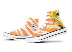 Kagamine Rin & Len Custom Hand Painted High Top Canvas Shoes, Hand Painted High Shoes, Cosplay Hand Drawing Shoes