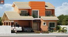 Planta de Sobrado - 3 Quartos - 142.53m² - Monte Sua Casa