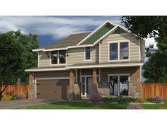 Floor Plan AFLFPW77516 is a beautiful 3021 square foot  Craftsman  home design with 2 Garage Bays