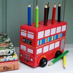 London Bus Pencil Holder