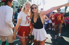 Alpha Delta Pi at University of Southern California College Football Games, College Game Days, Sorority Girls, University Outfit, Alpha Delta, University Of Southern California, Insta Posts, Cute Skirts, College Outfits