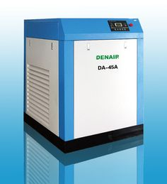 DENAIR Standard Oil-injected Screw Air Compressor Model: DA-45 Working Pressure(Mpa): 0.75 Air Delivery(m3/min): 7.8 Voltage and IP Grade: 380V IP54 Starting Method: Belt/Air Cooling Noise: 68±2 Dimensions LxWxH(mm): 1200x1350x1500 Weight(kg): 700 Outlet Pipe Diameter: G1-1/2 EEI: EEI2 Qualification And Quality Certificate: GC energy-saving Certification, CE European Union standard Certification, ISO9001 the United Kingdom LRQA Certification
