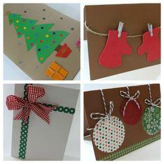 weihnachtskarten basteln diy geschenkpapier