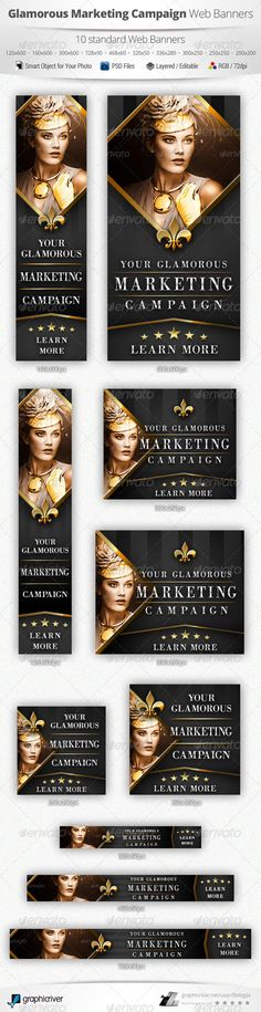 Glamorous Marketing Campaign Web Banners Template PSD | Buy and Download: http://graphicriver.net/item/glamorous-marketing-campaign-web-banners/5373617?WT.ac=category_thumb&WT.z_author=Belegija&ref=ksioks