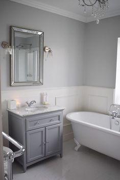 red Bathroom Decor 18 - Bathroom - Coving done Bathroom Paneling, Loft Bathroom, Bathroom Red, Downstairs Bathroom, Bathroom Colors, Small Bathroom, Master Bathroom, Family Bathroom, Bathroom Ideas