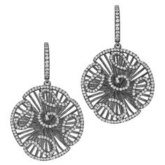 CASCADE EARRINGS - SILVER/BLACK FINISH - BY FEI LIU - SAVE £52! Regular Price: £525.00 Special Price: £473.00 #christmas #gift #silver #diamonds #presents Leather Gifts, Silver Diamonds, Silver Earrings, Christmas Gifts, Presents, Black, Jewelry, Xmas Gifts, Gifts