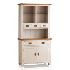 This charming vintage dresser from Kimble offers ample storage space & a beautiful painted finish for that farmhouse feel. Small Dresser, Welsh Dresser, Oak Dresser, Kitchen Dresser, Dresser Top, Small Drawers, Dining Room Storage, Storage Spaces, Oak Furniture Land