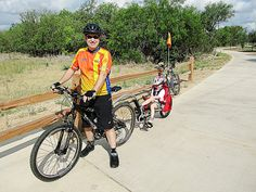 Leon Creek Ride with the Weehoo! by IFlySkyhawks, via Flickr