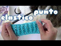 Como hacer el punto elastico o puño a ganchillo facil - YouTube