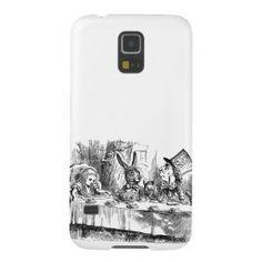 Samsung Galaxy S5 case | Vintage Alice in Wonderland Mad Hatter & rabbit tea party